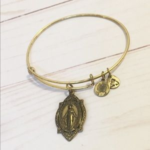 Alex and Ani Gold Mother Mary Charm Bracelet